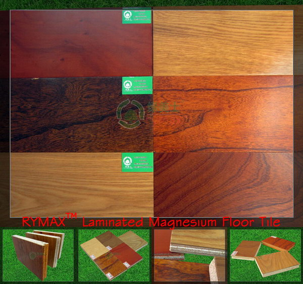 RYMAX Laminated Magnesium Floor Tile | Waterproof Floor Tile | Fireproof Flooring